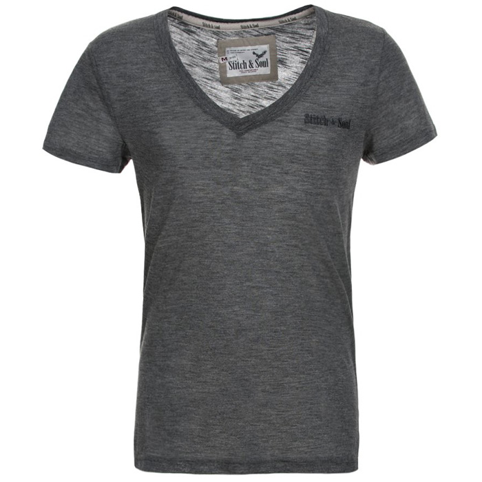 Stitch & Soul heren T-shirt Donkergrijs