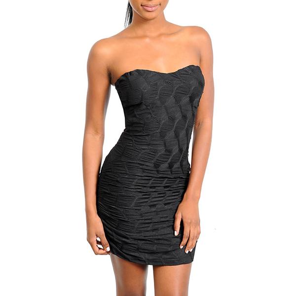 Strapless Black Tube Dress