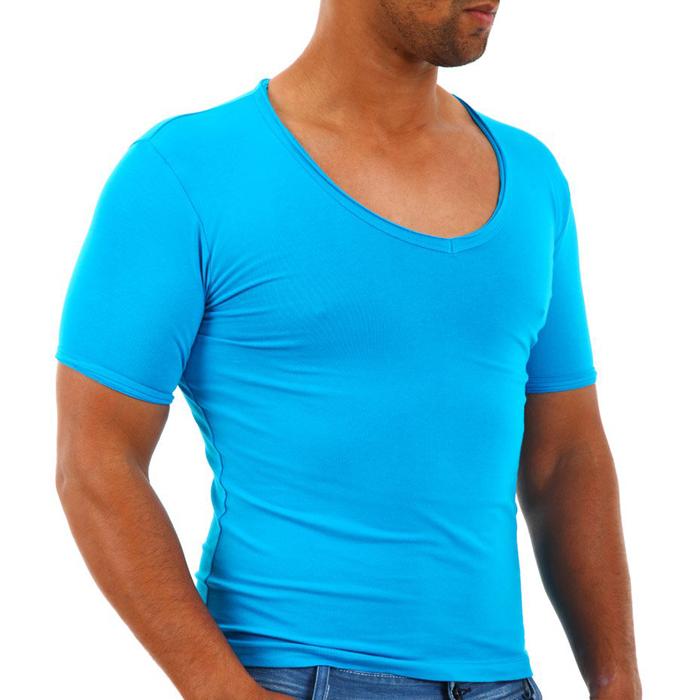 T-shirt Carisma Slim fit Blauw