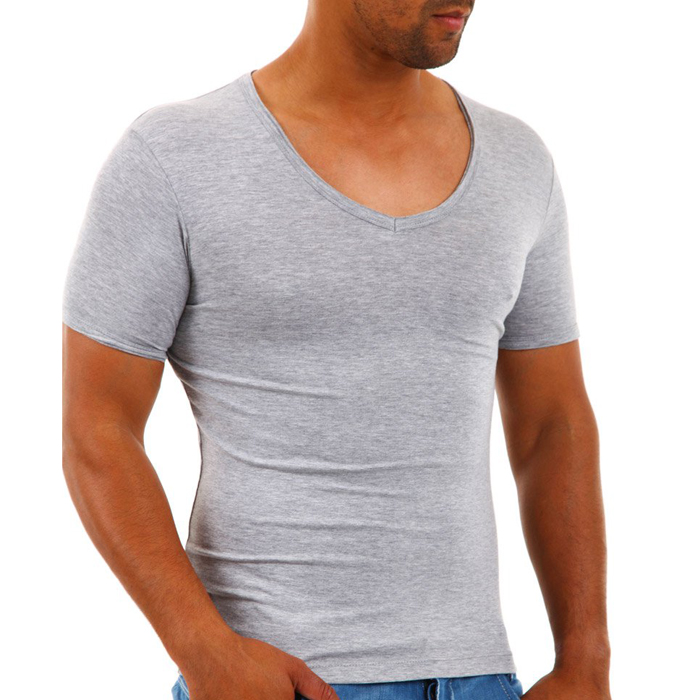 T-shirt Carisma Slim fit Grijs
