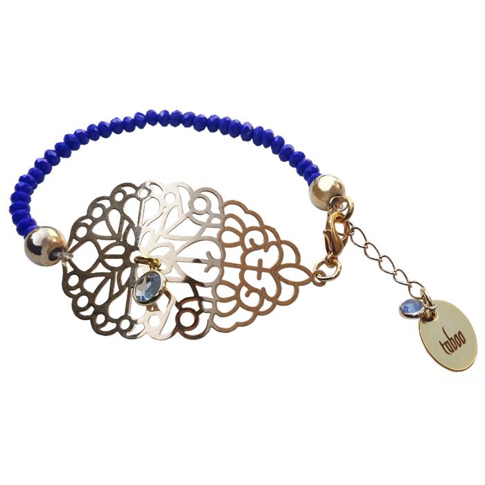 TABOO dames armband AVERY GOUD/KOBALT