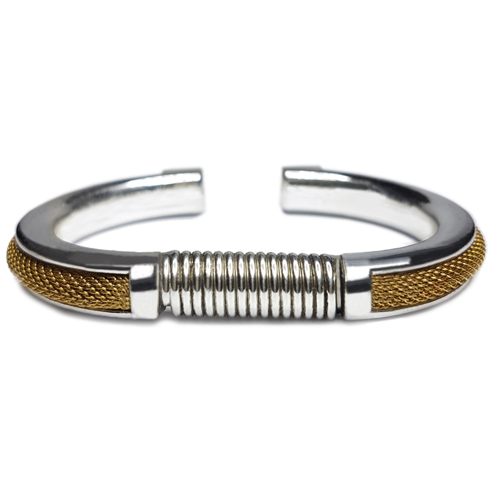 TABOO heren armband LUKE ZILVER-GOLD