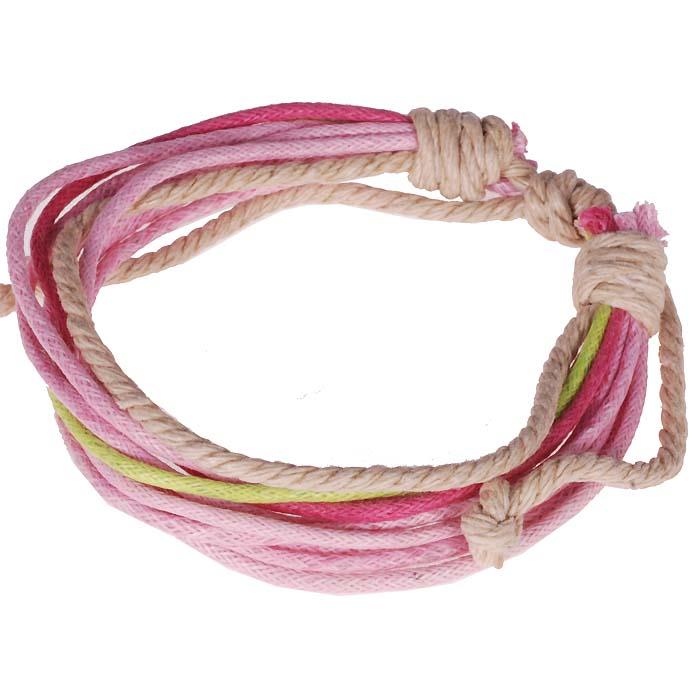 Touw armband Wrap Roze