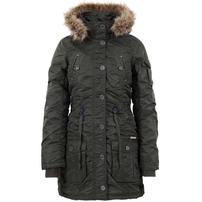 Urban Surface dames parka jas Groen