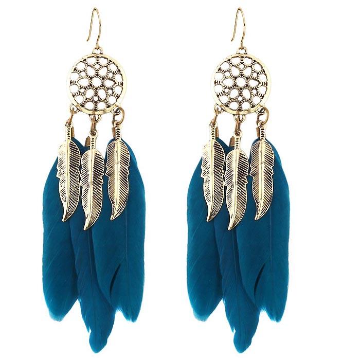 LookingGoodToday, Veren oorbellen Tibetaans blauw