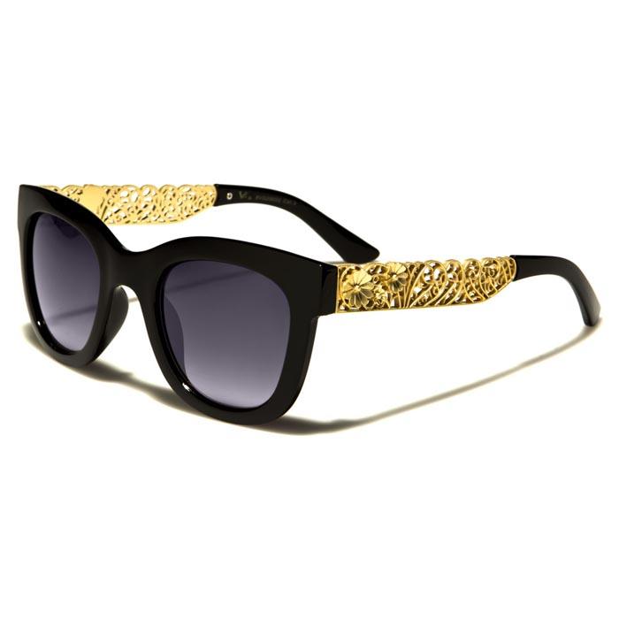 VG Eyewear dames zonnebril Flower Black Gold vg29002