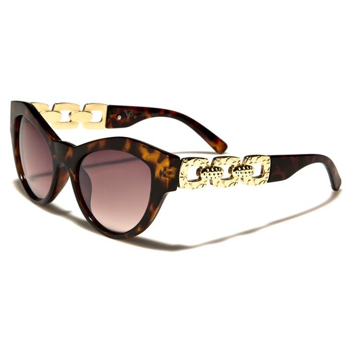 VG Eyewear zonnebril Cat Eye Gold Chain Bruin vg29024