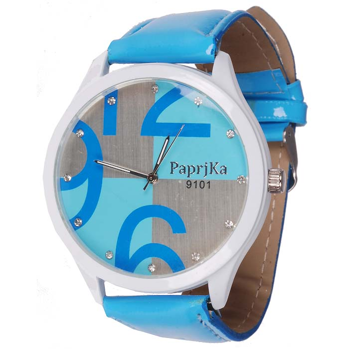 LookingGoodToday, Womage Fashion horloge Big Dial Blue