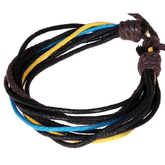 LookingGoodToday, Wrap armband touw Blauw