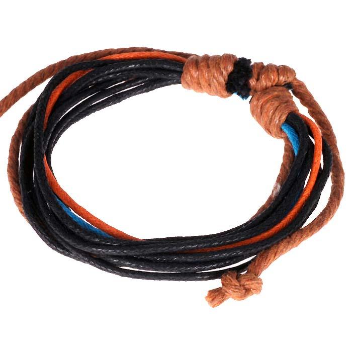 LookingGoodToday, Wrap armband touw Zwart