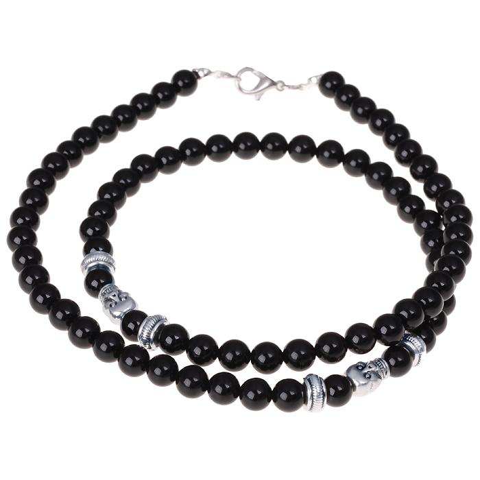 Zwarte Onyx kralen ketting voor mannen