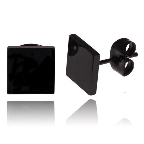 Zwarte Stud oorbellen LGT Jewels 8mm